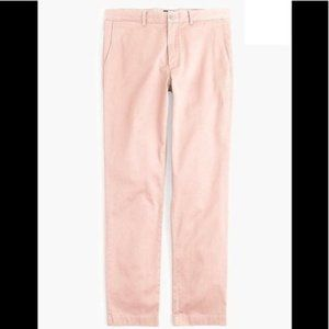 J. CREW 770 Straight Fit Pink Chino Pants 32 x 34